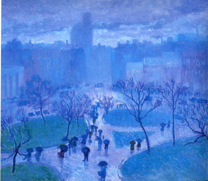 Bernhard Gutmann-Rainy Day,Union Square.700