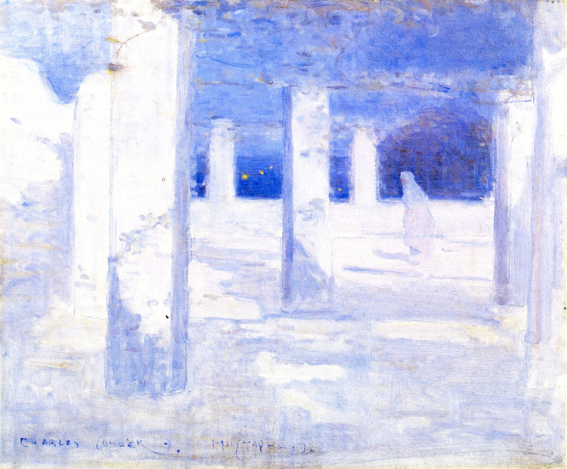 Charles Conder-Moonlight at Mustapha-Private-collection.800