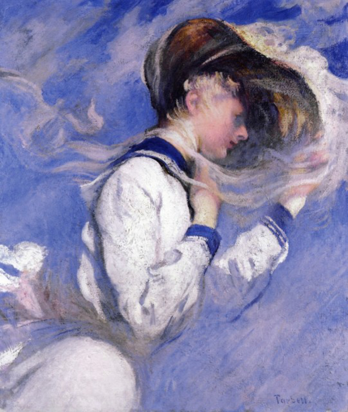 Edmund Charles Tarbell (1862~1938)- Summer Breeze.700