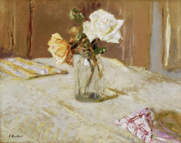Edouard Vuillard - Roses in a Glass Vase 600