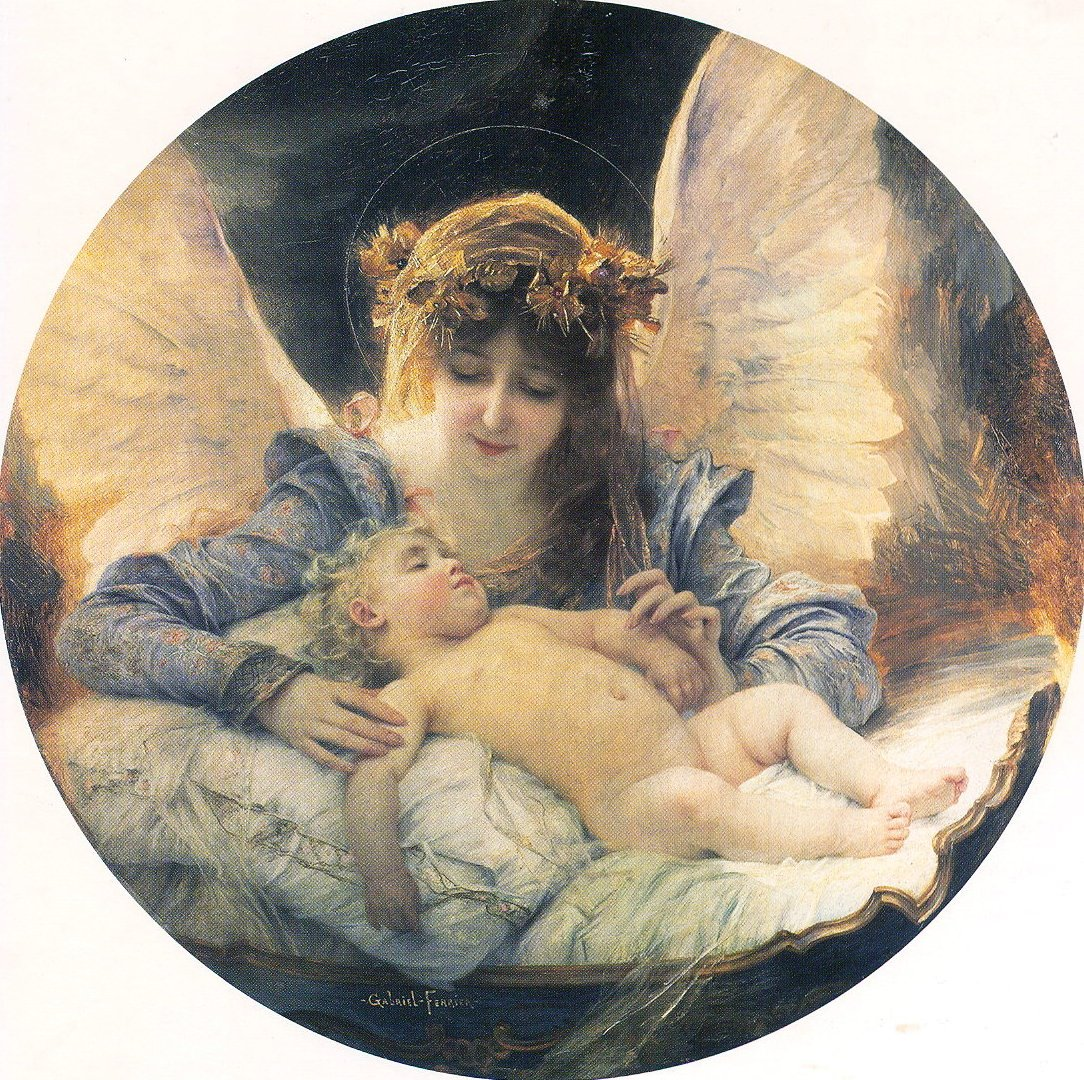 Gabriel Ferrier(1847~1914) - The Guardian Angel