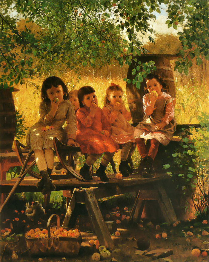 John George Brown -The Cider Mill.700