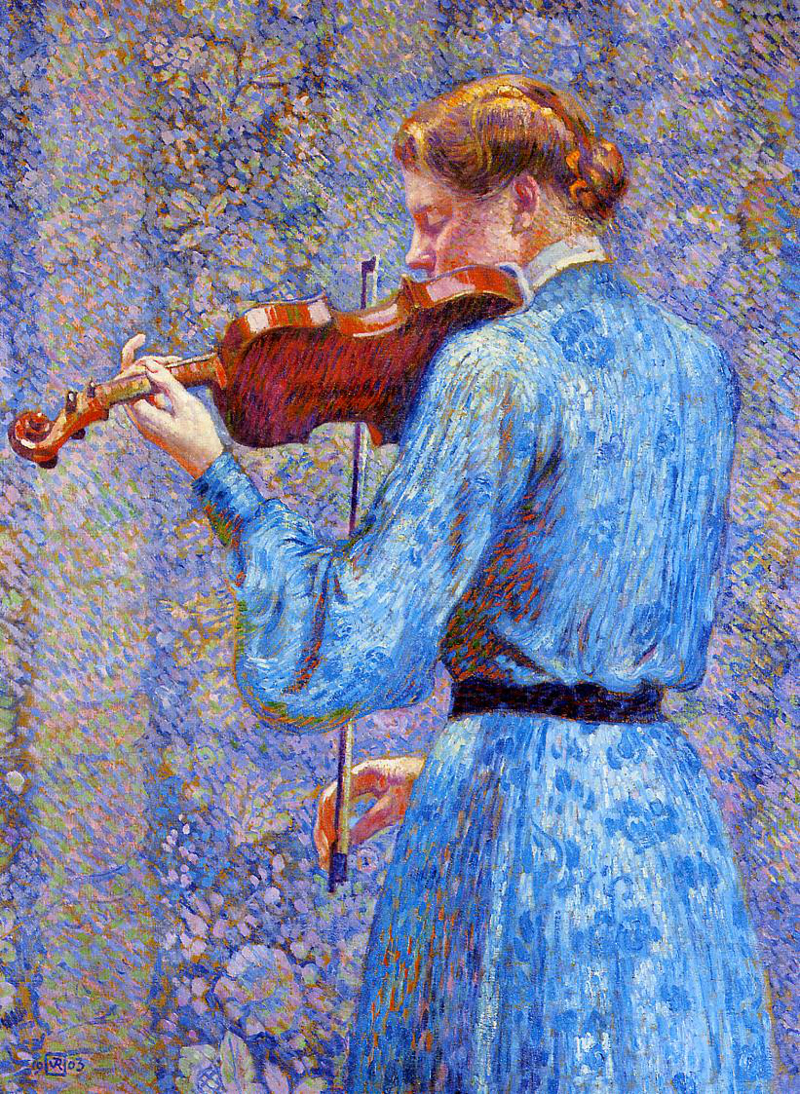 Theo van Rysselberghe - The Violinist, 1903.800