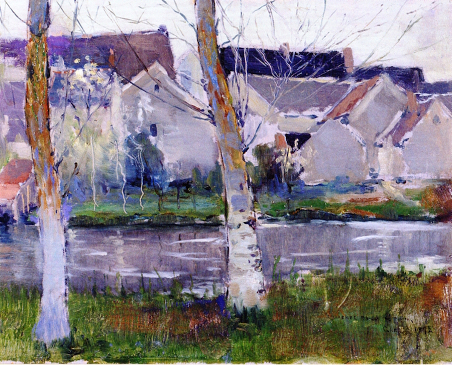 Charles-Rollo-Peters-study-of-houses-at-gresfrance-1892-900
