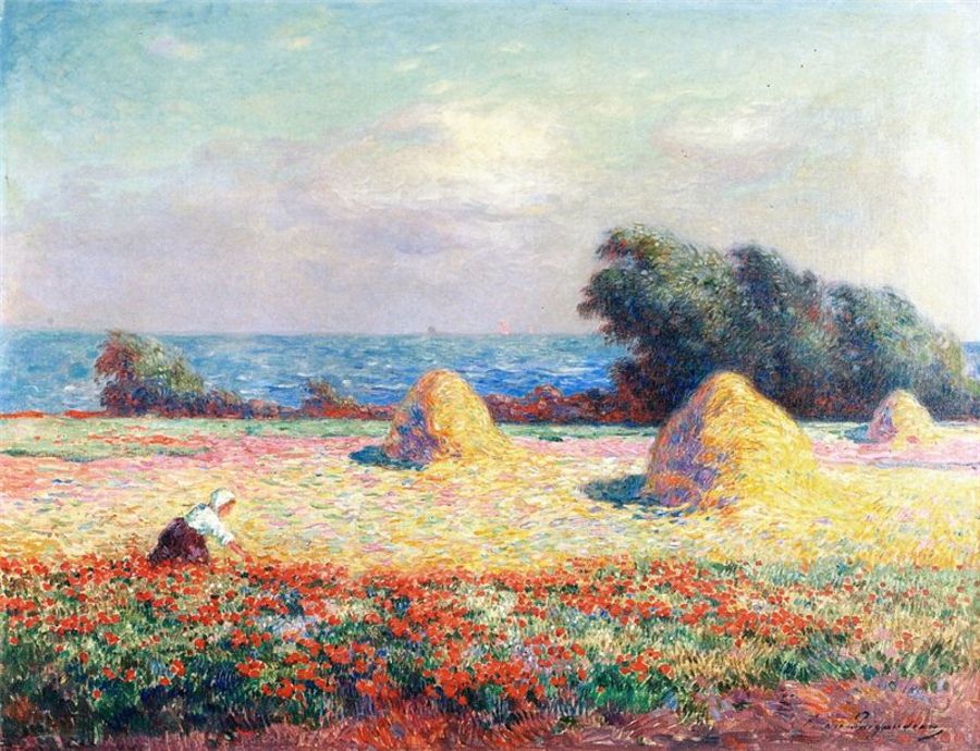 Puigaudeau-haystacks-and-poppies-900