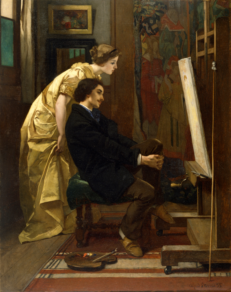 Alfred Stevens - The Painter and His Model-800